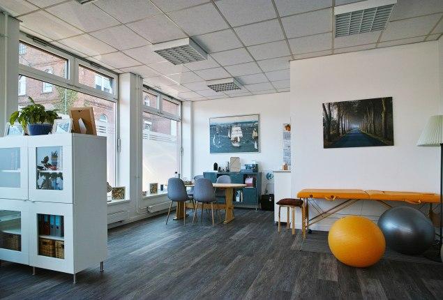 Dies ist unser dritter, großer Therapieraum im Erdgeschoss.